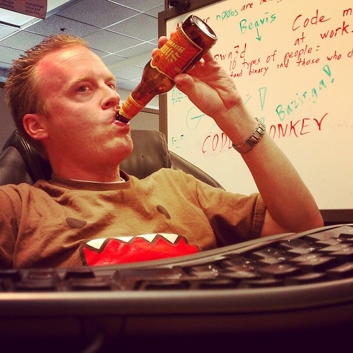 I don't always drink beer at the office, but when I do, I prefer Shiner.  Stay thirsty my geeks.
