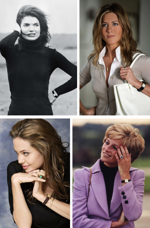 wearing a cartier tank watch-style icons-celebrities