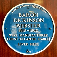 Photo of Baron Dickinson Webster blue plaque