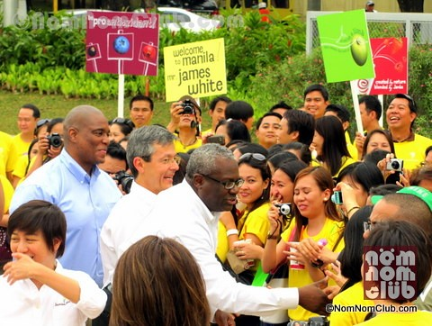 Jamba Juice President and CEO Mr. James D. White Shakes Hands with Guests