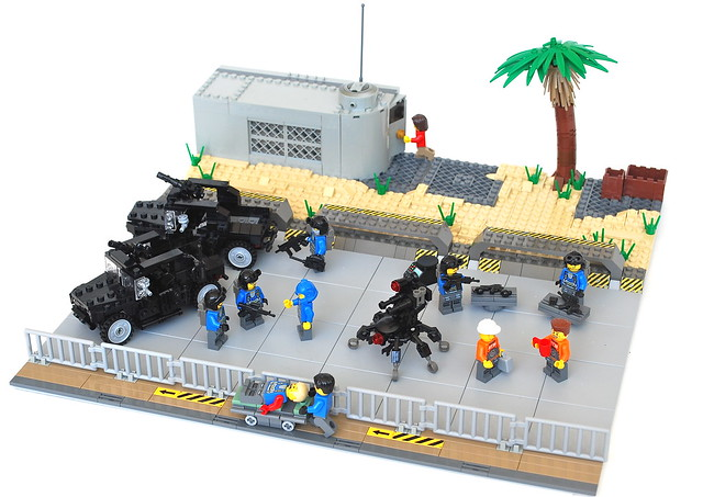 how to make a army base lego