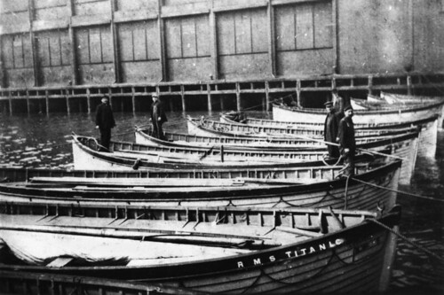 Rescued lifeboats from the Titanic