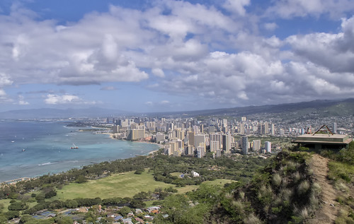 "Honolulu from the book ""Le isole lontane"" by Sergio Albeggiani"