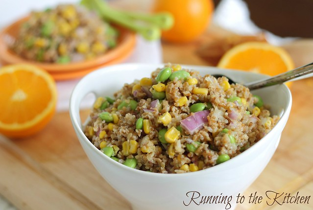 bulgar salad with orange dijon dressing
