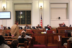 Council president shuts down a request to let more audience members speak - Urban Camping Ban Public Hearing - 4/30/2012