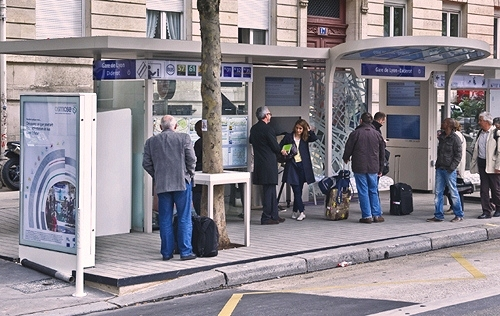 """bus stop of the future,"" Blvd. Diderot, Paris (courtesy of RATP)"