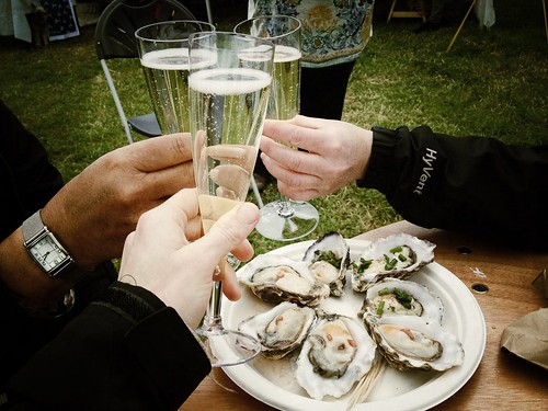 Cheers to Camel Valley bubbly and Rock oysters