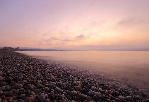 La siesta matin lever de soleil mer pose longue