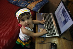 Nerjis Asif Shakir 11 Month Old Laptop Girl From Bandra by firoze shakir photographerno1