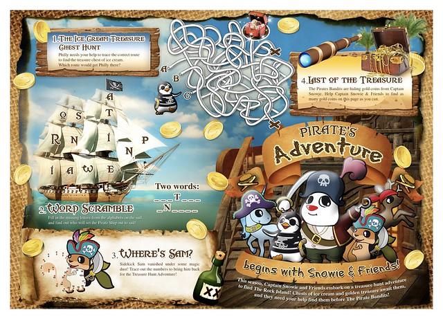 Pirate's Adventure Kid's Menu Activity Sheet