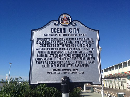 OC History Plaque Ocean City 6/2012