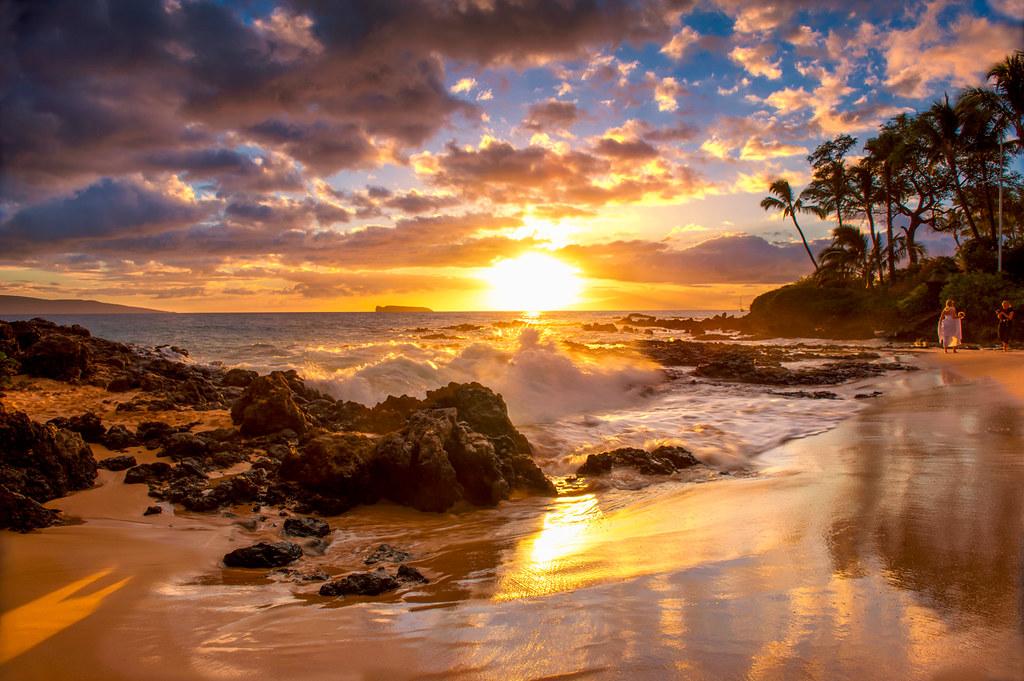 Wedding Beach, Гавайи.