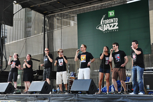 Retrocity performing at Nathan Phillips Square