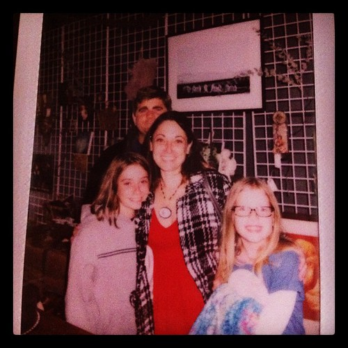 Had our photo taken in a garage shop in Hayes Valley #instant #sunday