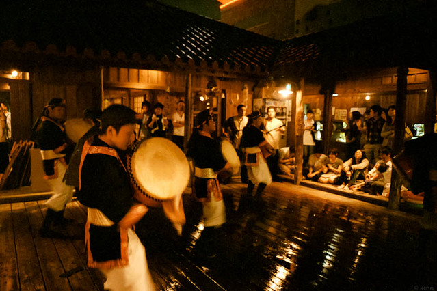 エイサー演舞 / Stage of Eisa (traditional Okinawan drum mix  dance)