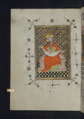 Illuminated Manuscript, Doffinnes Hours, Souls in the Bosom of God, Walters Manuscript W.185, fol. 171v by Walters Art Museum Illuminated Manuscripts