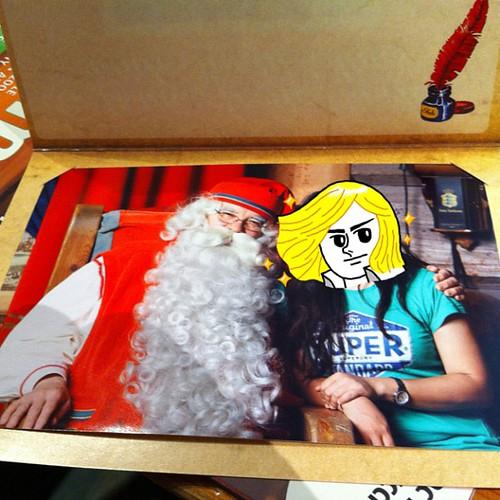 我跟聖誕老人合照了!