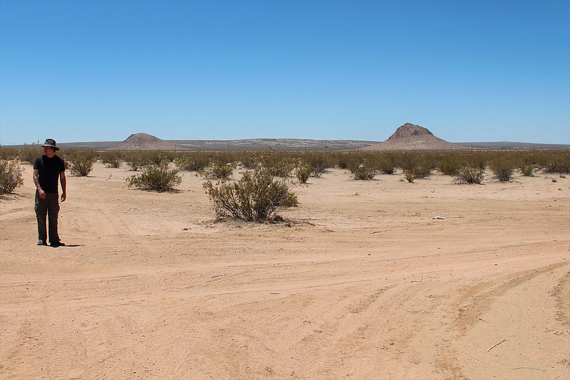 An intersection of undeveloped roads, California City, California