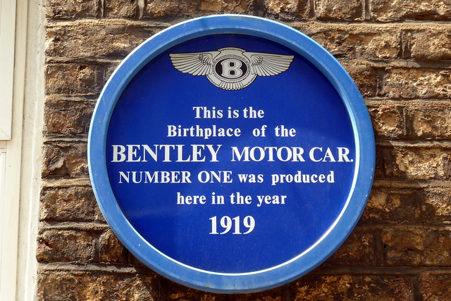 Blue plaque № 6766 - This is the birthplace of the Bentley motor car. Number one was produced here in the year 1919