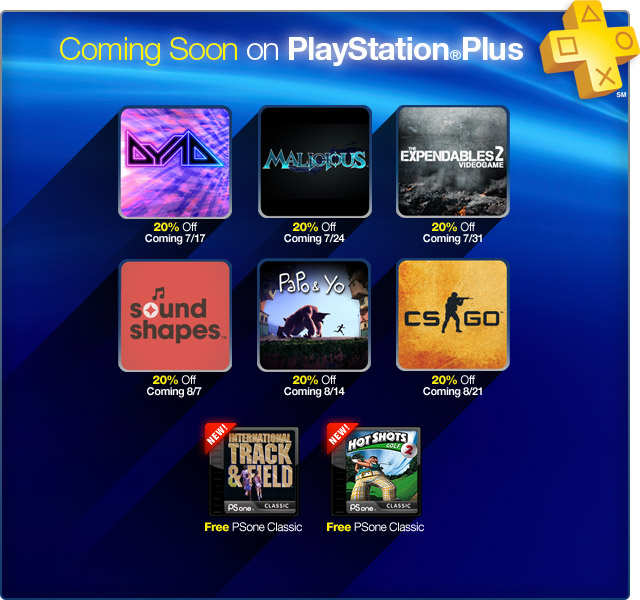 7-16 PlayStation Plus Update
