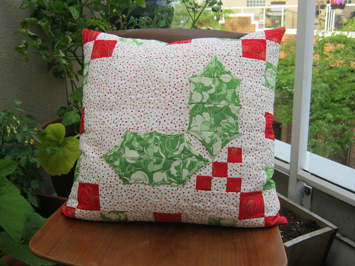 Holly Berries pillow cover