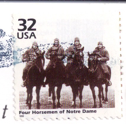 Four Horsemen of Notre Dame US Stamp