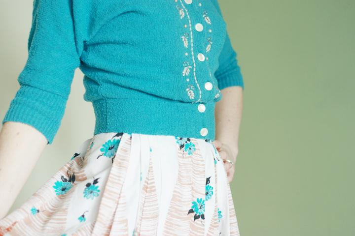 vintage cardigan vintage 1950s skirt