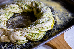 Braided Pesto Bread Wreath