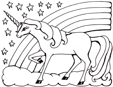Colouring sheet - unicorn | Private commission for a ...