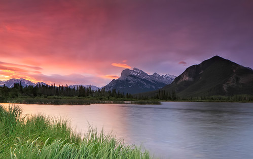 Sunrise at  Mount Rundle