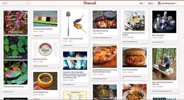 Pinterest for Camping