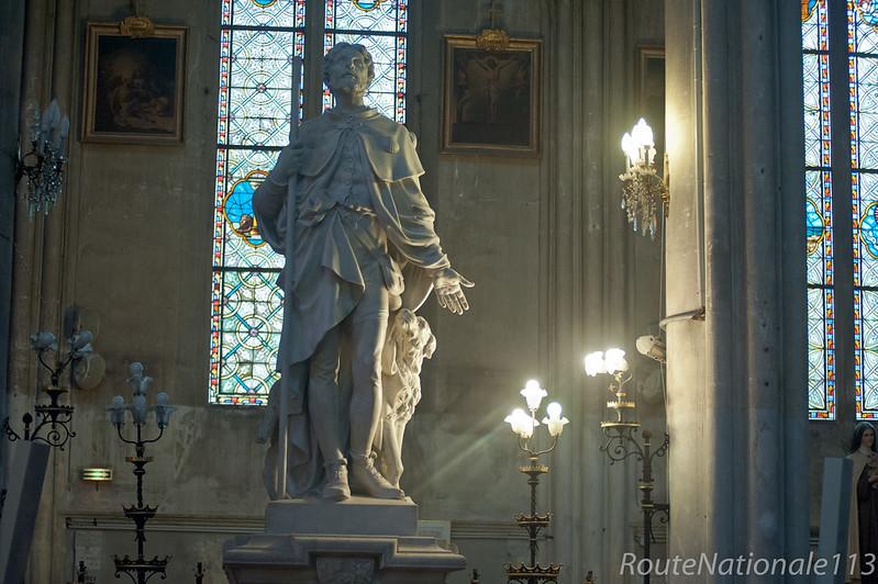Saint Roch accompagné par son chien