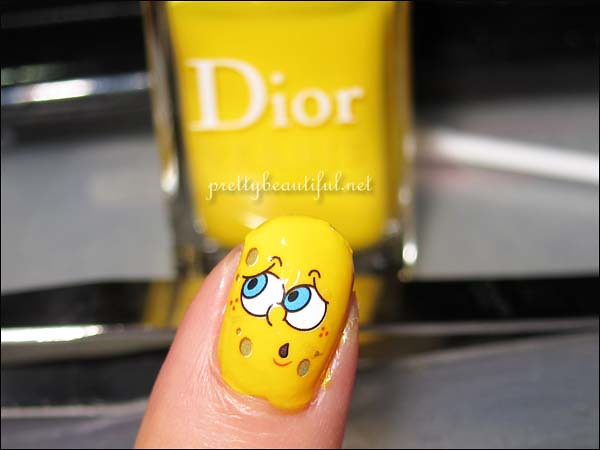 Spongebob Squarepants Nail Art Sticker done