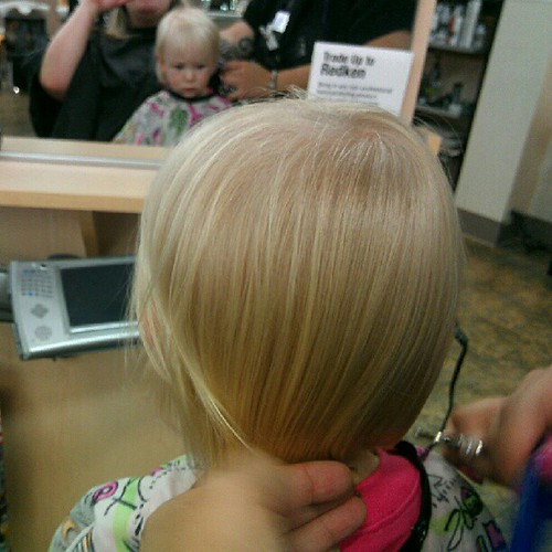 Elliora's first haircut