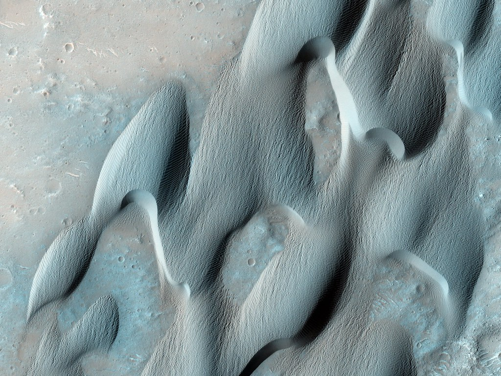 Dunes in Herschel Crater on Mars (NASA, Mars)