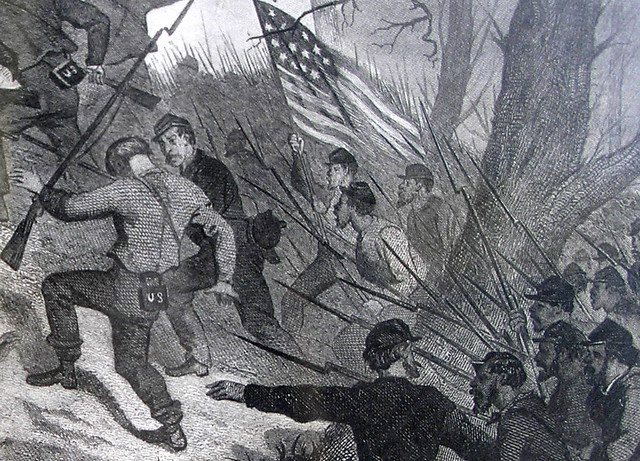 Charge on Fort Donelson detail 1862