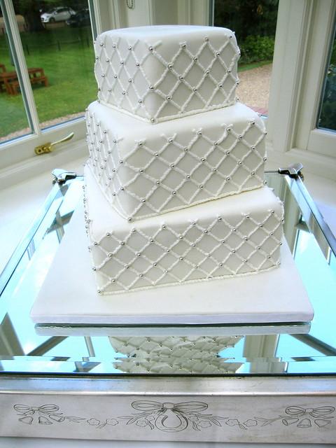 Diamond Pattern Wedding Cake Flickr Photo Sharing