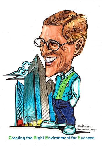 Caricature for Standard Chartered Bank
