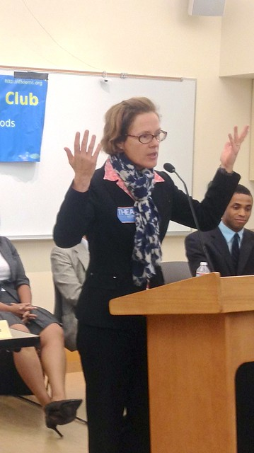 Thea Selby at the District 5 Democrats Debate