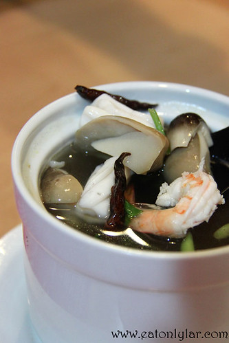 Individual Spicy Tom Yam Seafood Soup, Basil Thai Nudle Bar