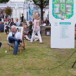 Simon Callow press interview | Simon Callow being interviewed in the gardens