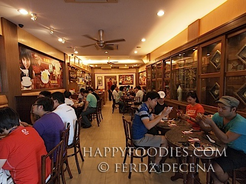 Inside Uncle Keong's restaurant