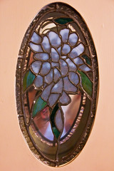 Tiffany Stained Glass Oval