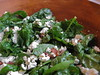 spinach salad with warm bacon vinaigrette and blue cheese