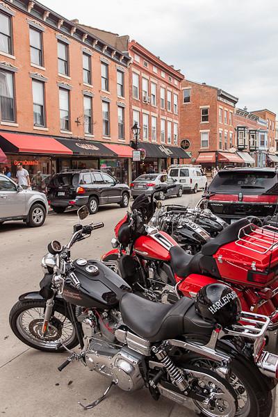 Harleys on Main Street, Galena Illinois