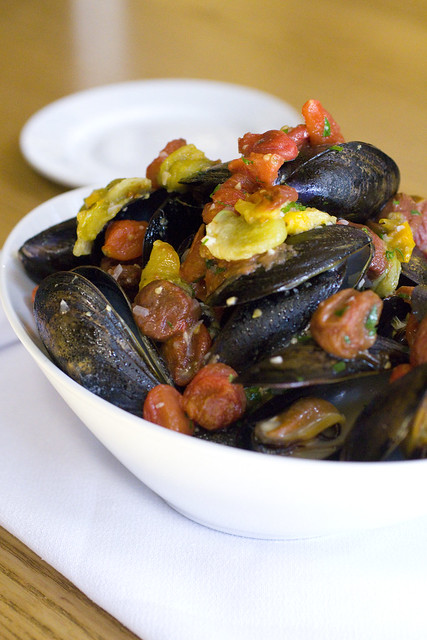 Mussels with Slow Roasted Heirloom Tomatoes 4