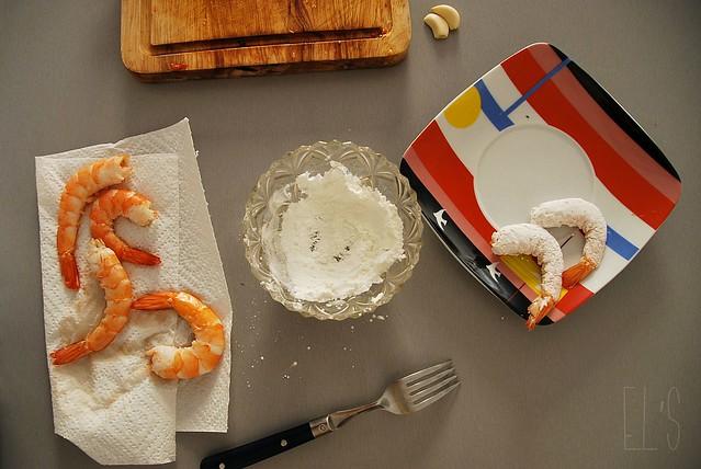 Beignets de crevettes panées