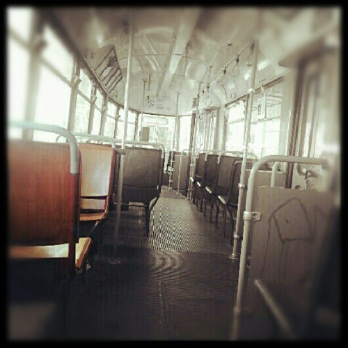 Pic: An empty trolley. . I feel a bit uncomfortable.. #photooftheday #Life #instagood #comments #comment #follow #followback #instamood #instadaily #dailylife #rustical #old #recent #instagram #transportation #tram #subway #strassenbahn #tourist #tourism  by cooling // Living Vienna