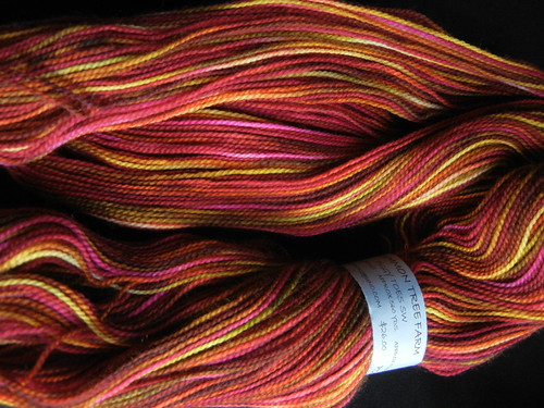Persimmon Tree Farm yarn Piggy Toes SW