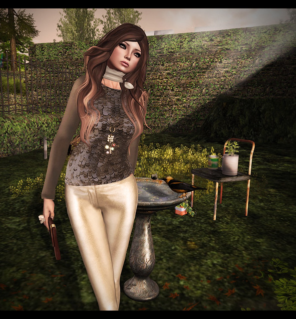 Mimikri - Sequin Sweater & Skinny Leather Pants - Dea